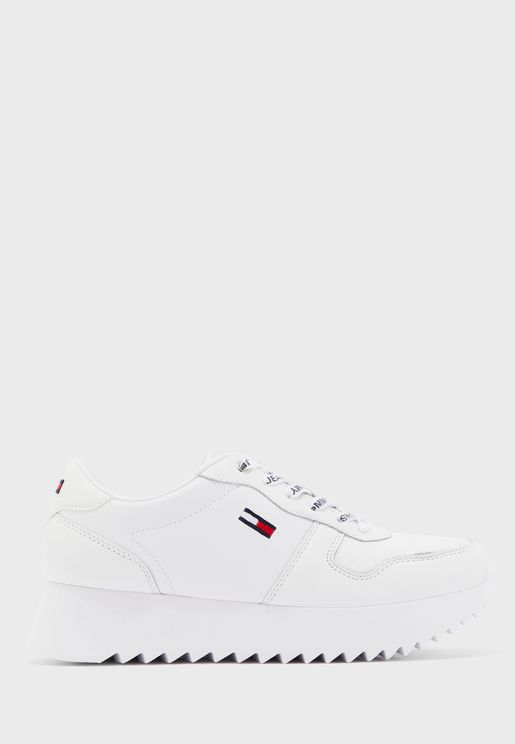 Cleated Leather Low Top Sneaker