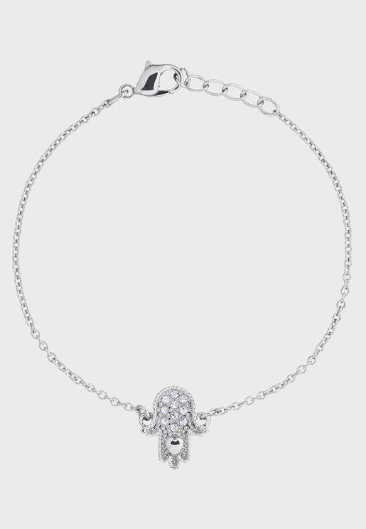 Hersha Hidden Heart Hand Bracelet