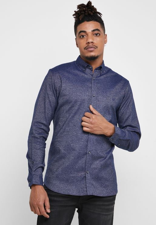 Logo Twist Slim Fit Shirt