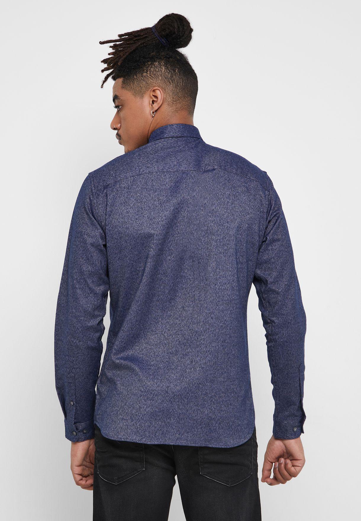 Logo Twist Slim Fit Shirt