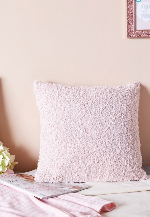 Pink Sheep Wool Cushion 45*45