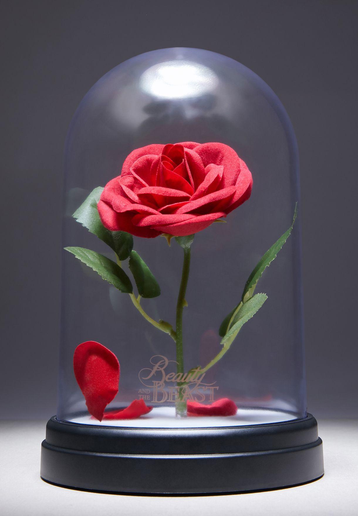 Beauty & The Beast Enchanted Rose Desk Lamp