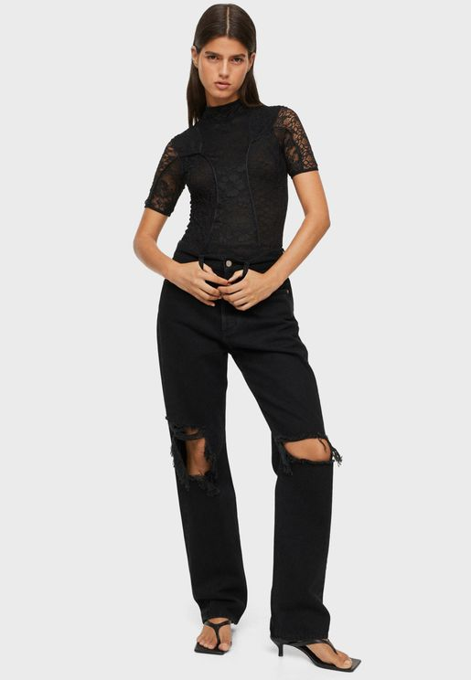 Short Sleeve Laced Body