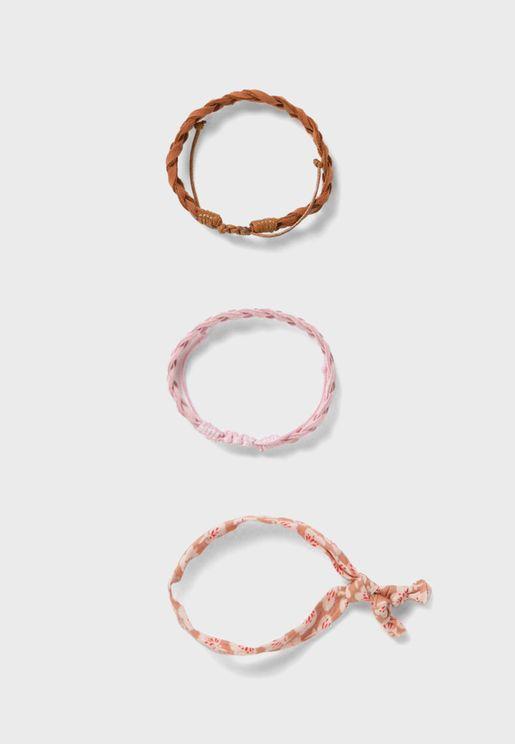Kids 3 Pack Braided Bracelet