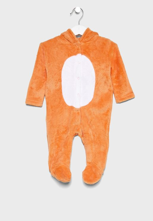 Infant Tiger Hooded Romper