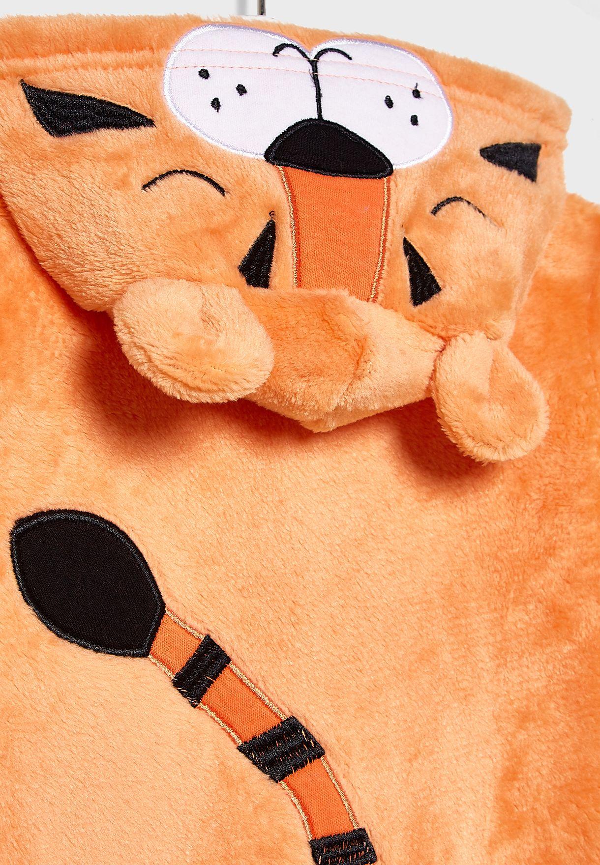 Infant Tiger Hooded Romper