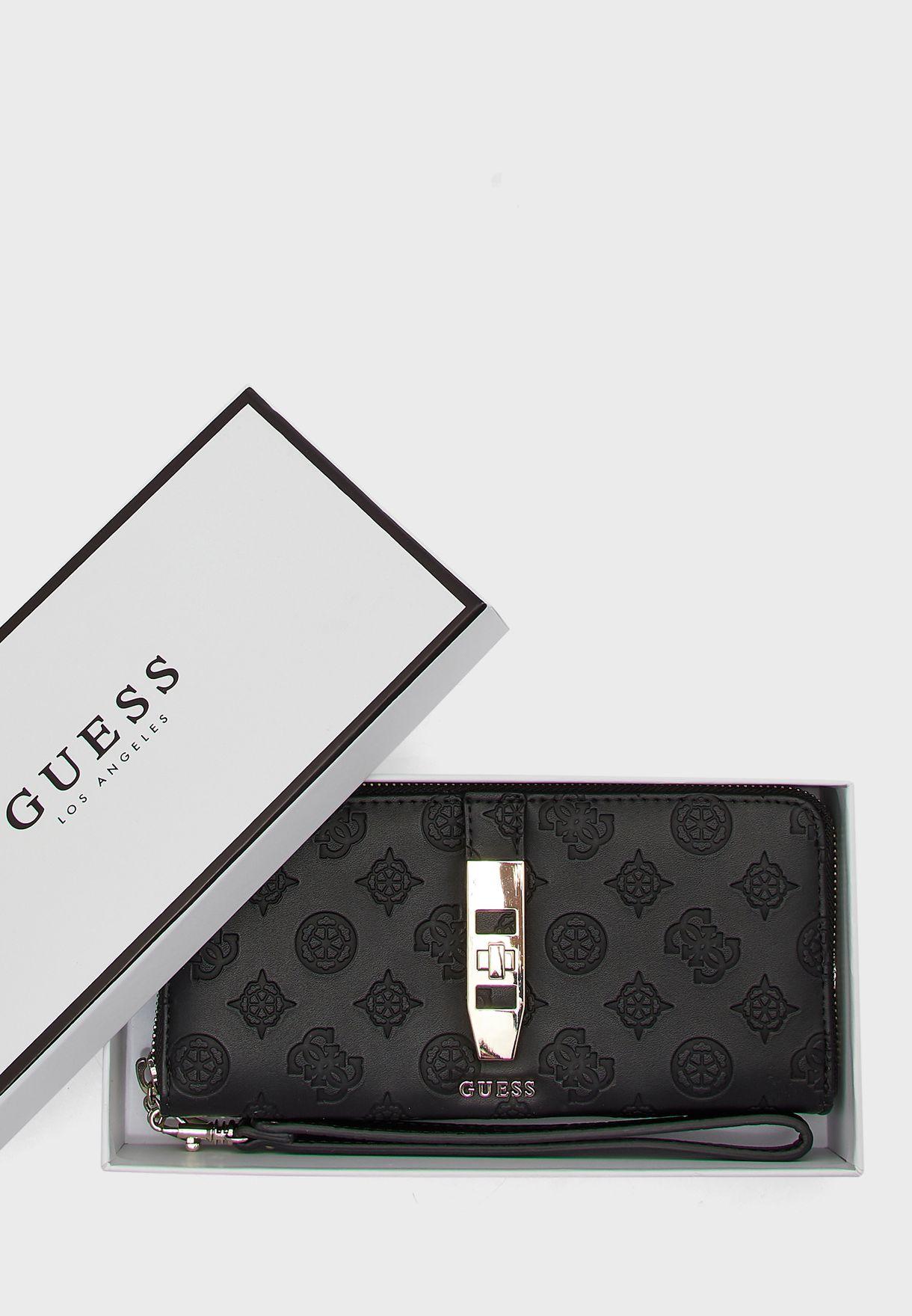 محفظة ذات سحاب مزينة بأزرار