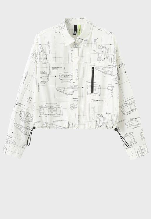قميص قصير مطبع