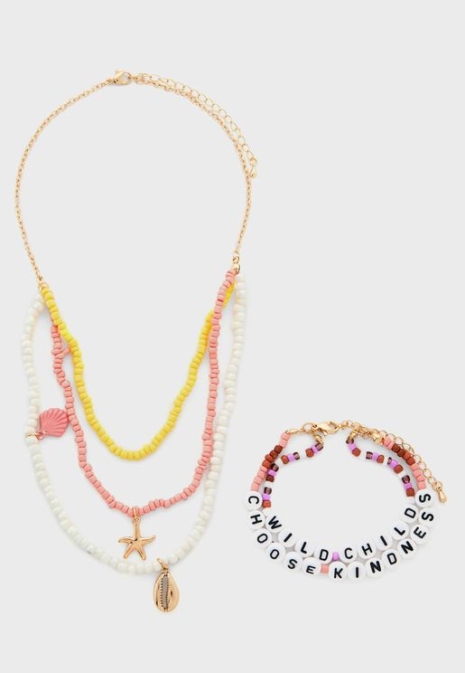 Kids Necklace & Bracelet Set