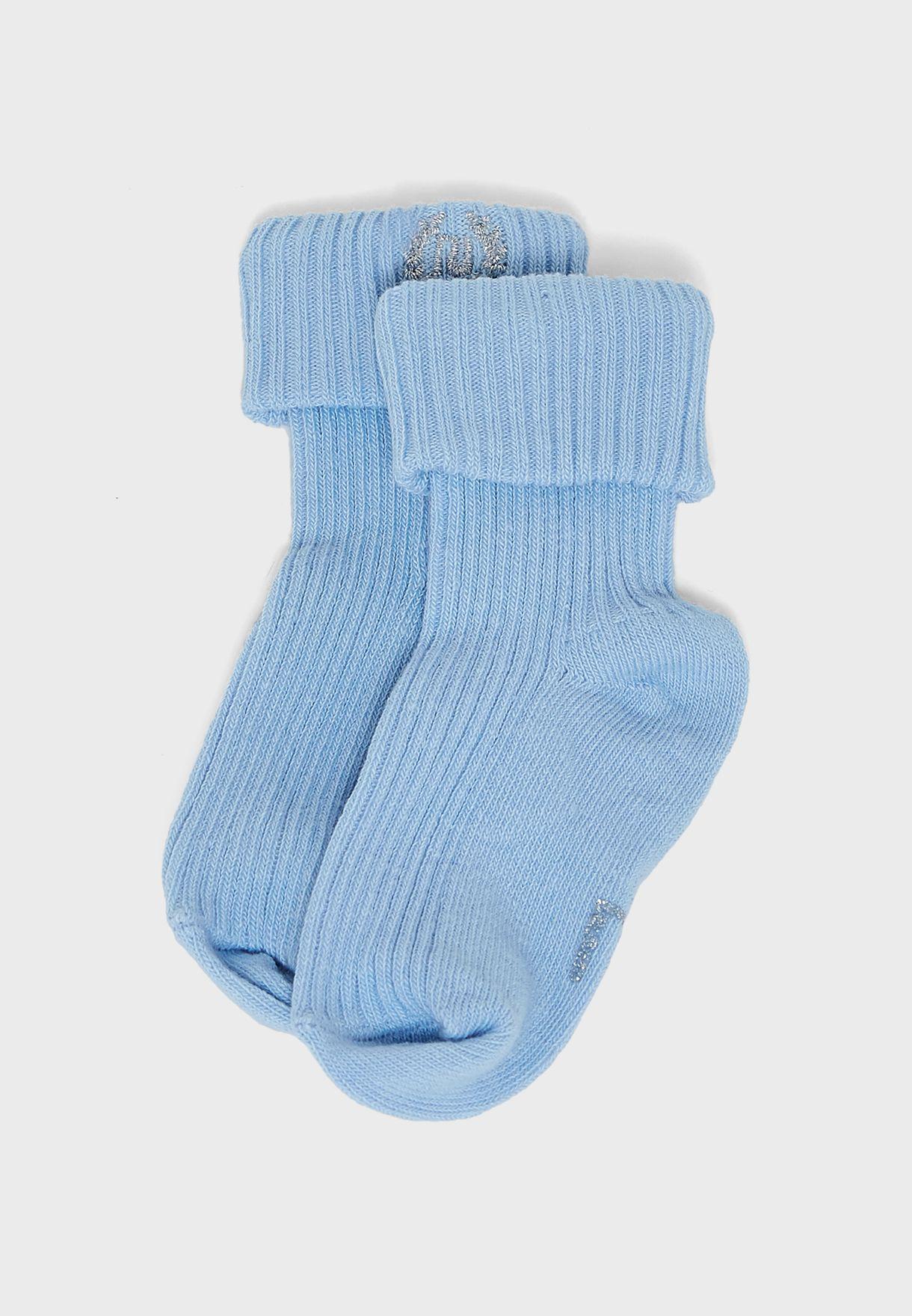 Infant 2 Pack Turn Over Hem Socks