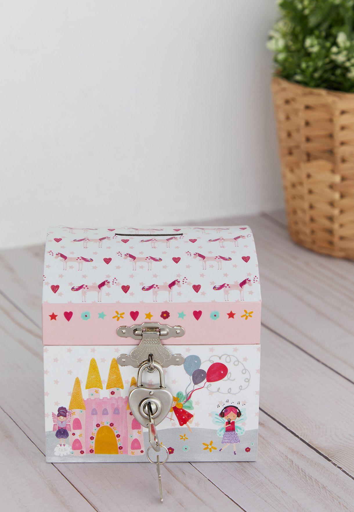Fairy Unicorn Lockable Money Box