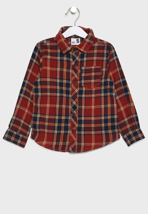 Kids Checked Shirt