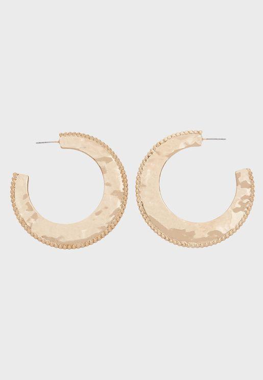 Stone Detail Hoop Earring