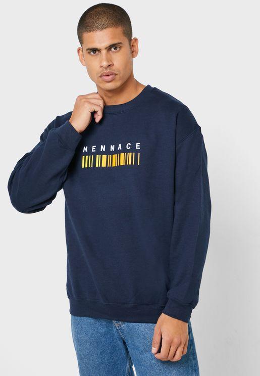 Barcode Print Sweatshirt