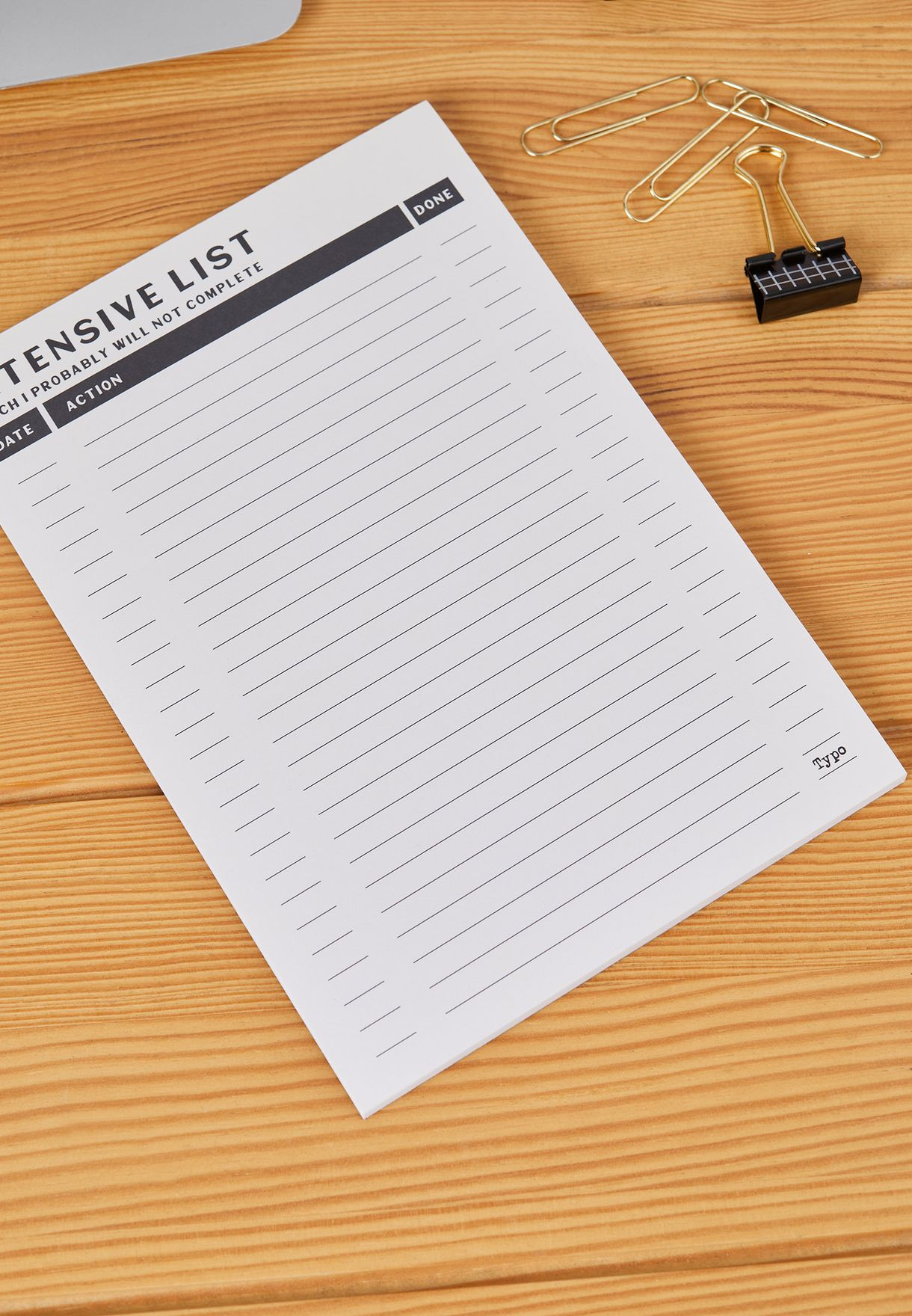 3 Pack Black And White Notepad