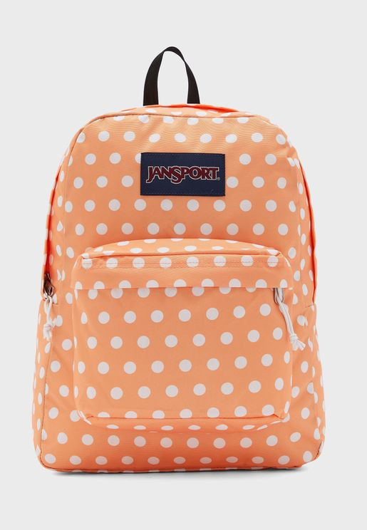 Superbreak Spot Print Logo Backpack