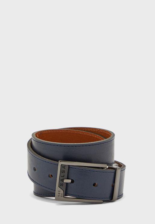 Square Detail Buckle Belt