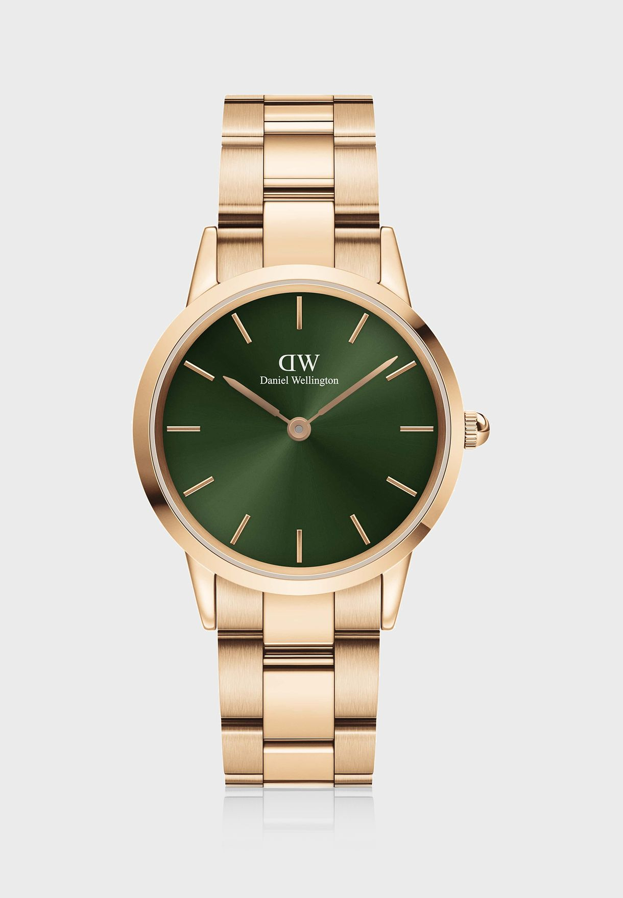 Iconic Link Emerald Rose Gold Watch, 32mm