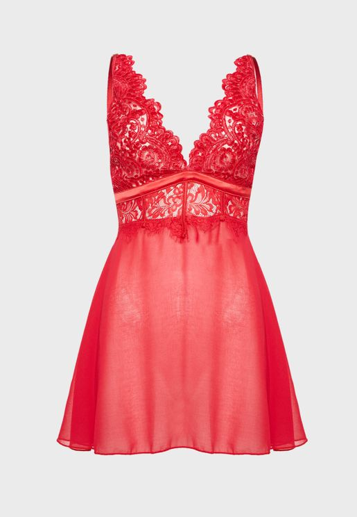 Lace Detail Babydoll