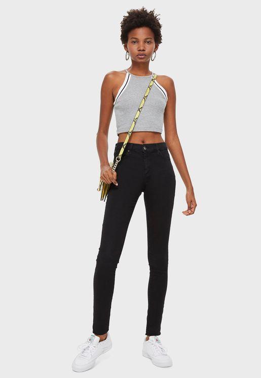 Moto High Waist Skinny Jeans