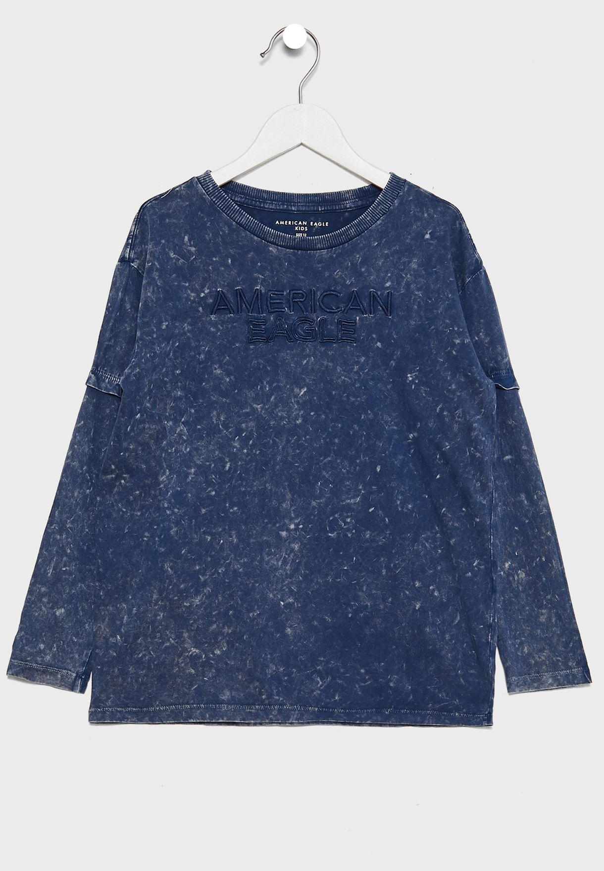 Kids Embroidered Washed T-Shirt