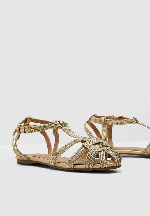 Koreen Flat Sandal - Gold
