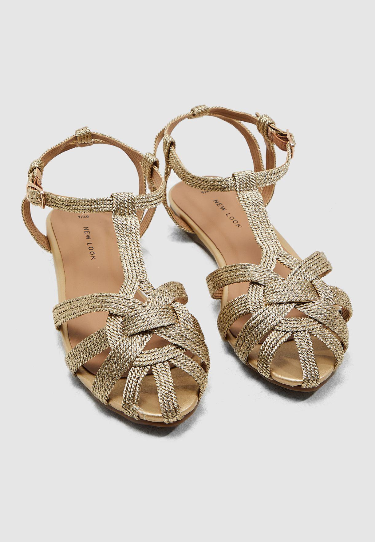 Koreen Flat Sandal - Gold