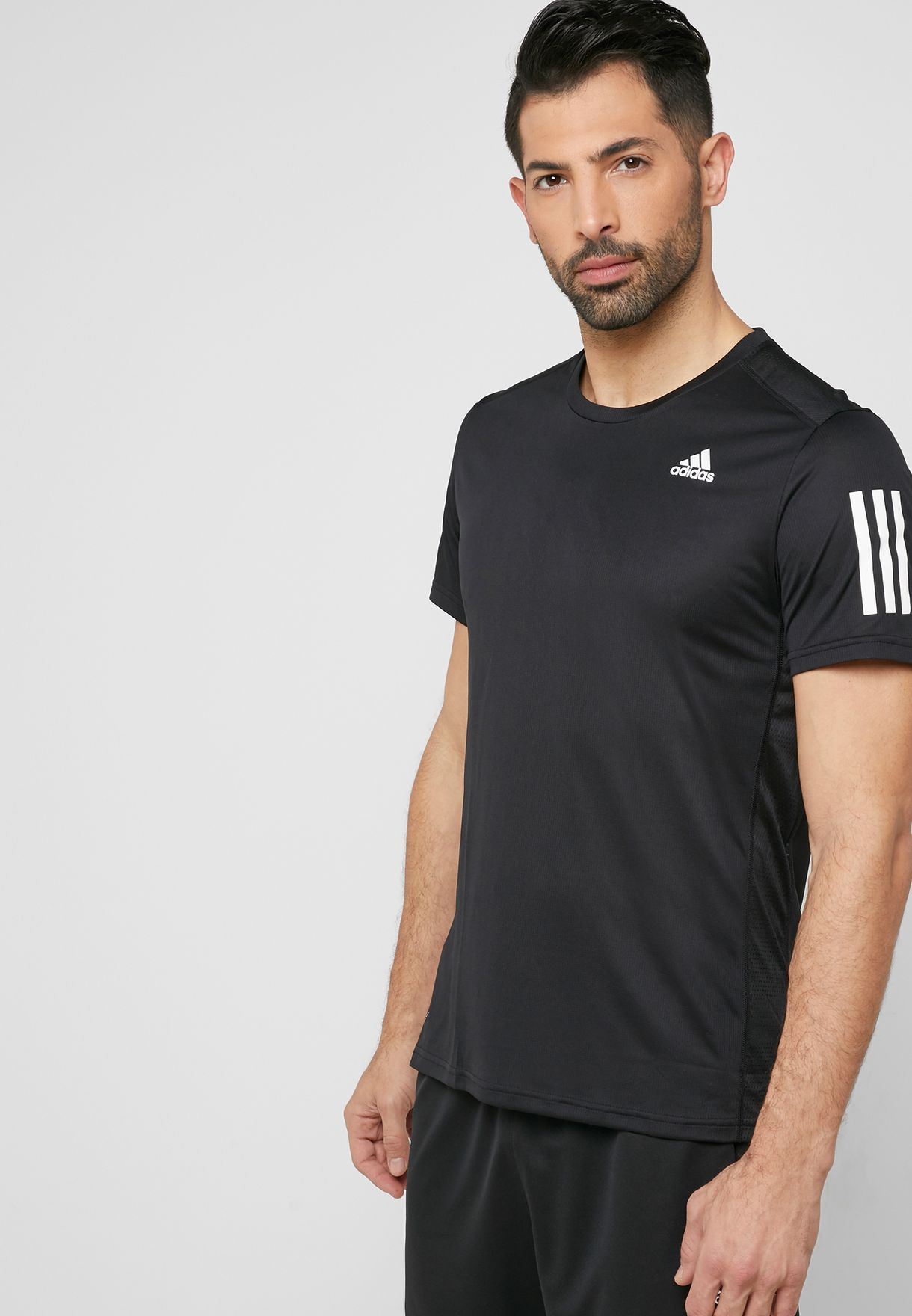 d4f1e1528 Shop adidas black Own The Run T-Shirt DX1312 for Men in UAE ...