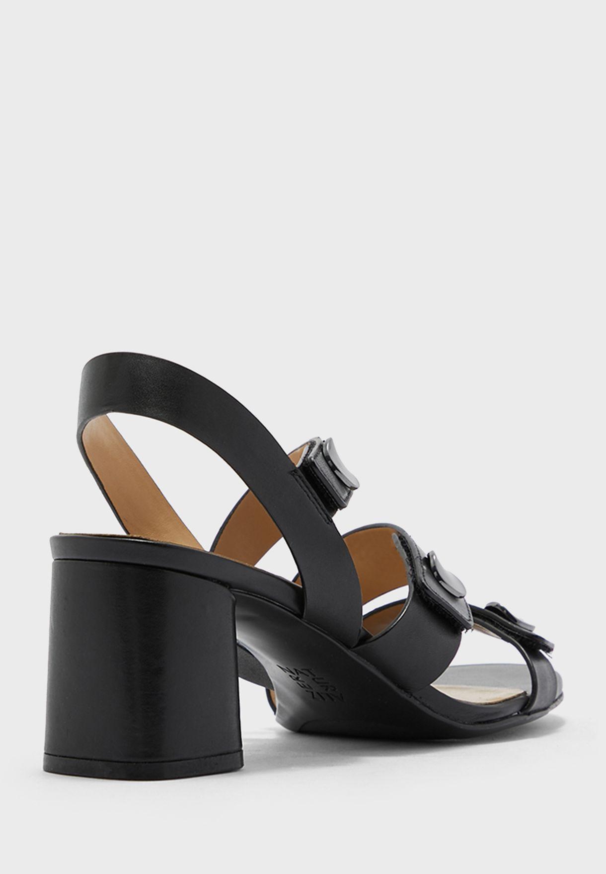 Multi Strap Mid Heel Sandals