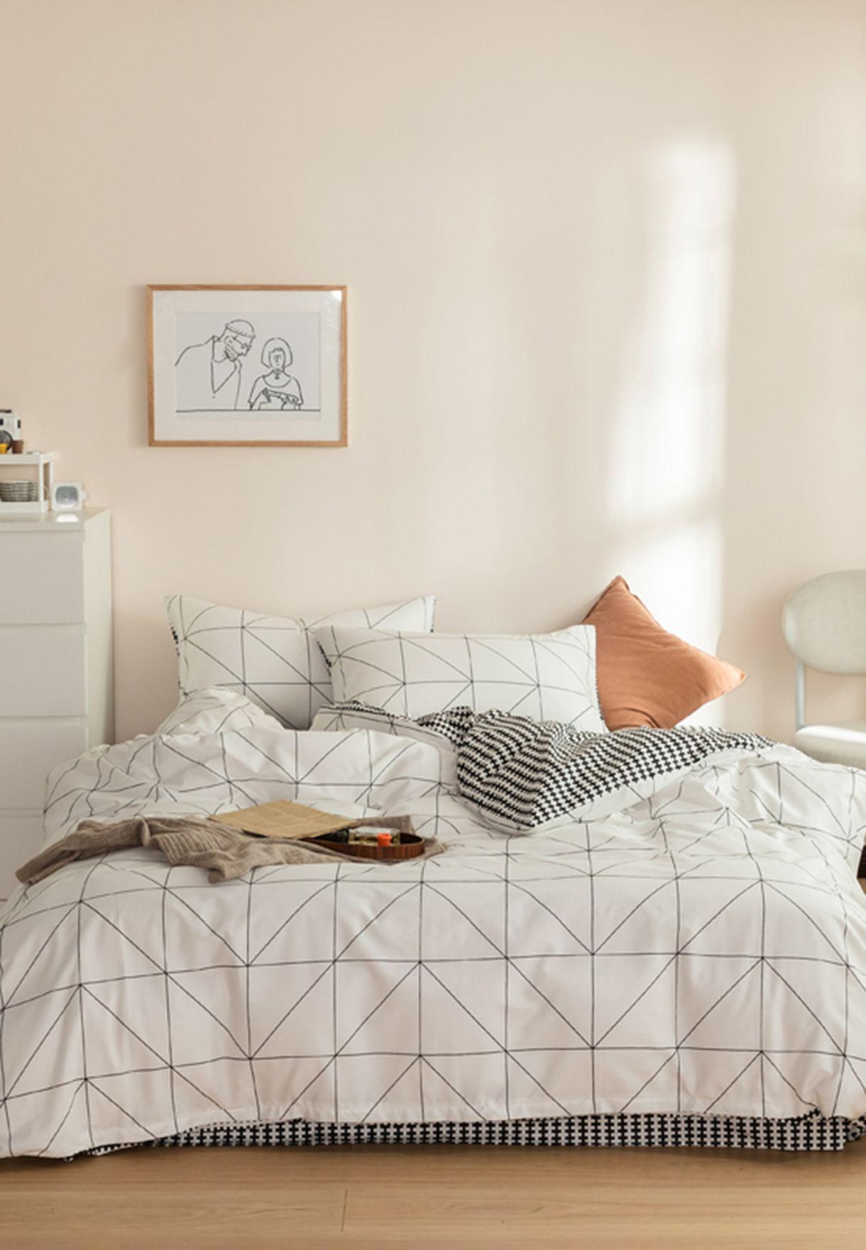 Monochrome Bedding Set - King 200x230cm