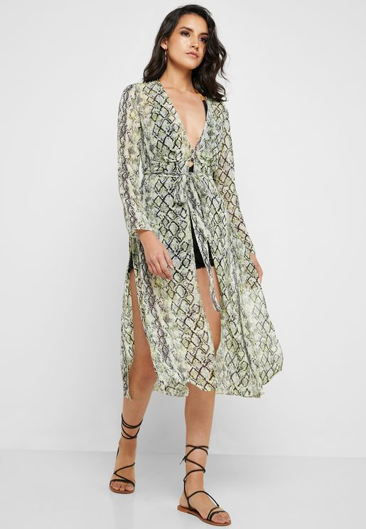 b3fd99cde27 Snake Print Wrap Dress. Miss Selfridge