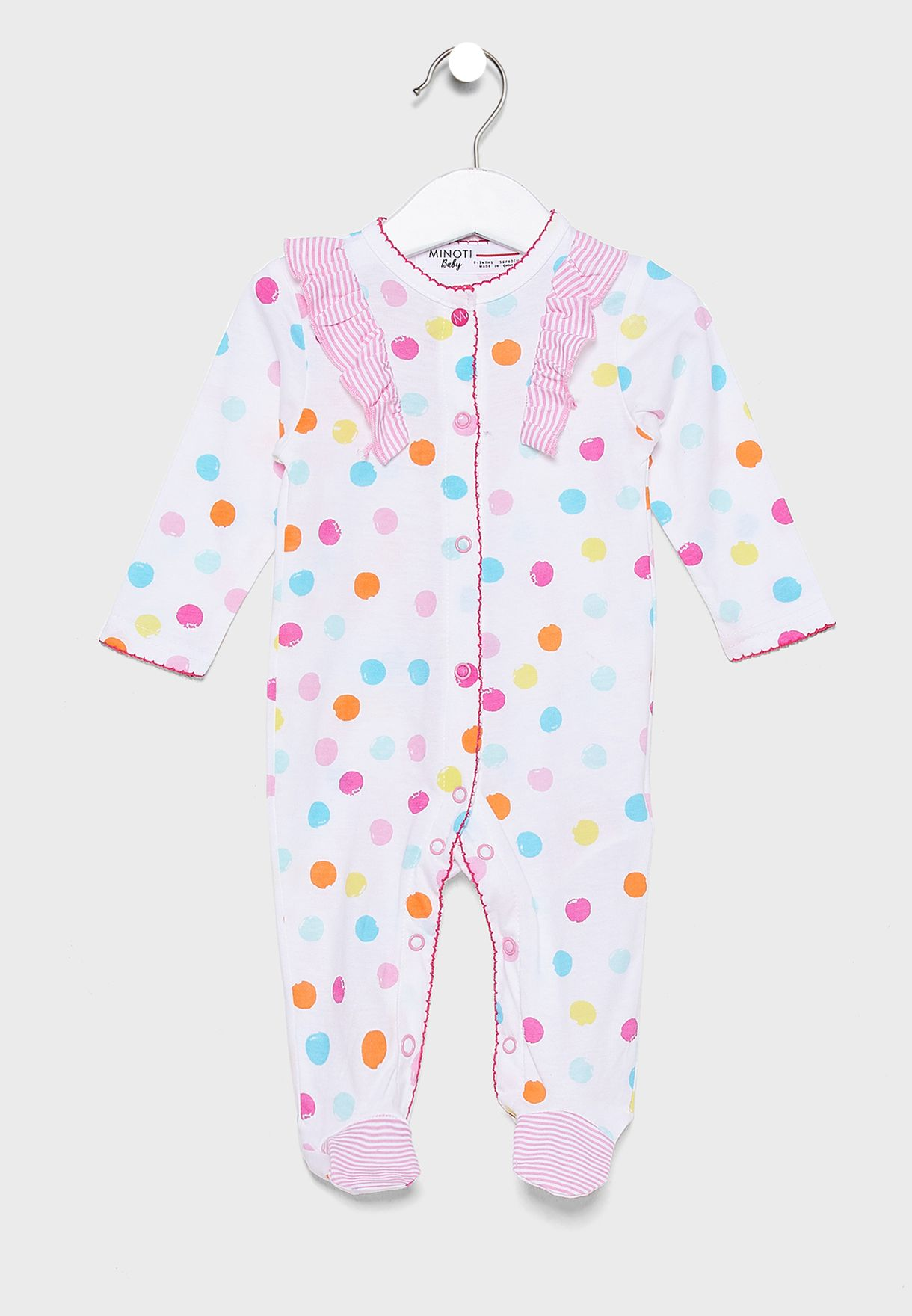 Infant Printed Romper+Cap Set