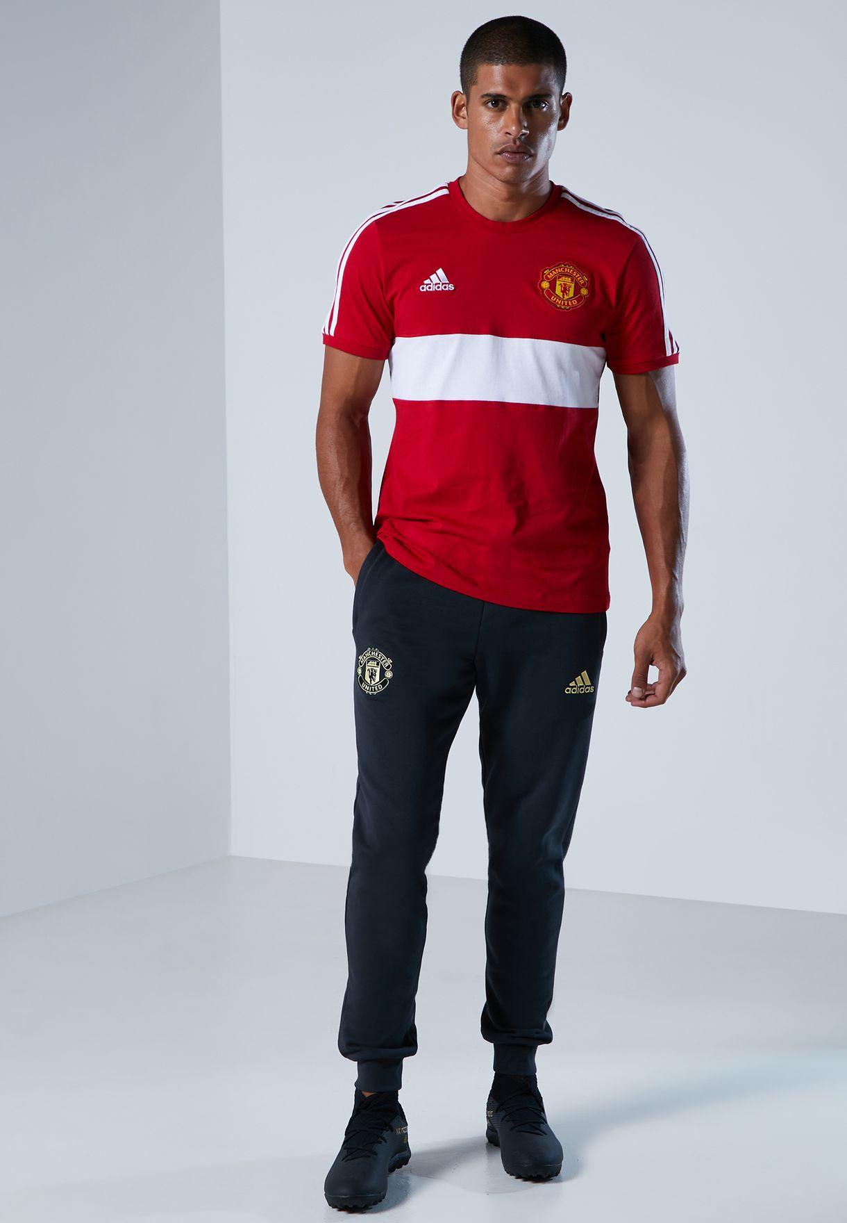 Manchester United 3 Stripe T-Shirt