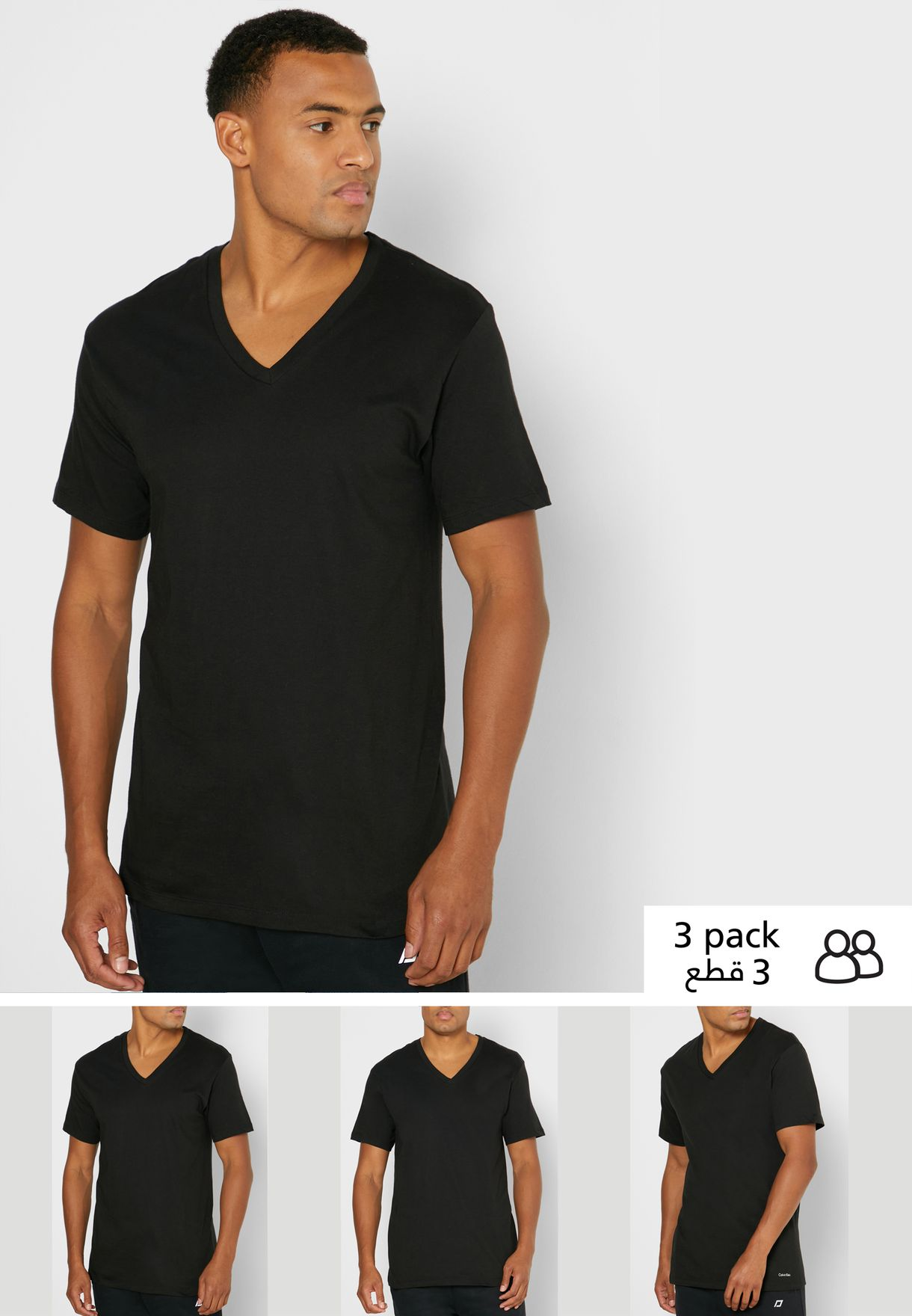 3 Pack V-Neck T-Shirt