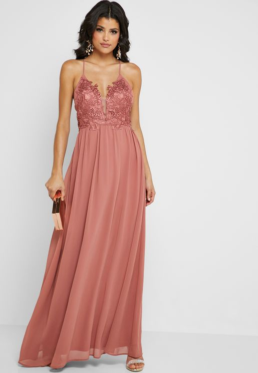 Lace Cami Maxi Dress