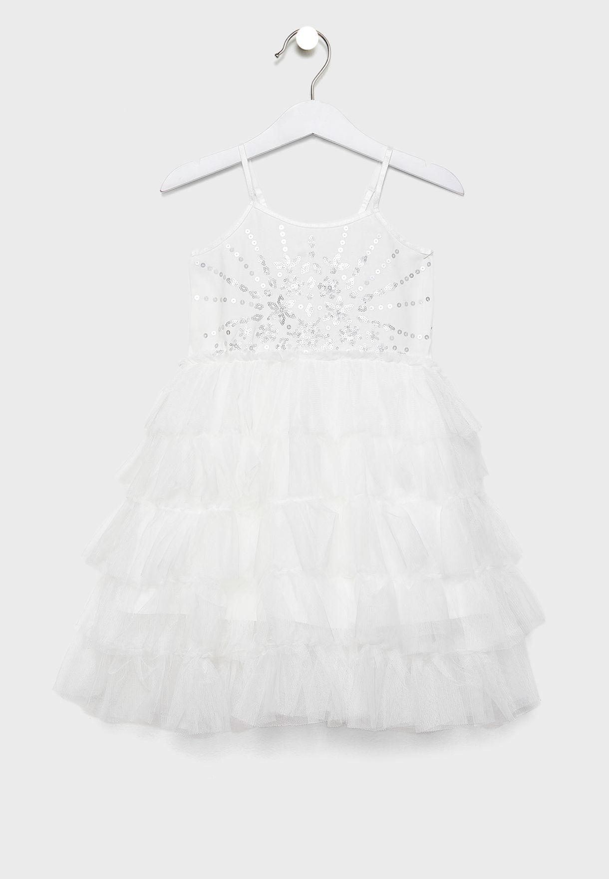 فستان مكشكش