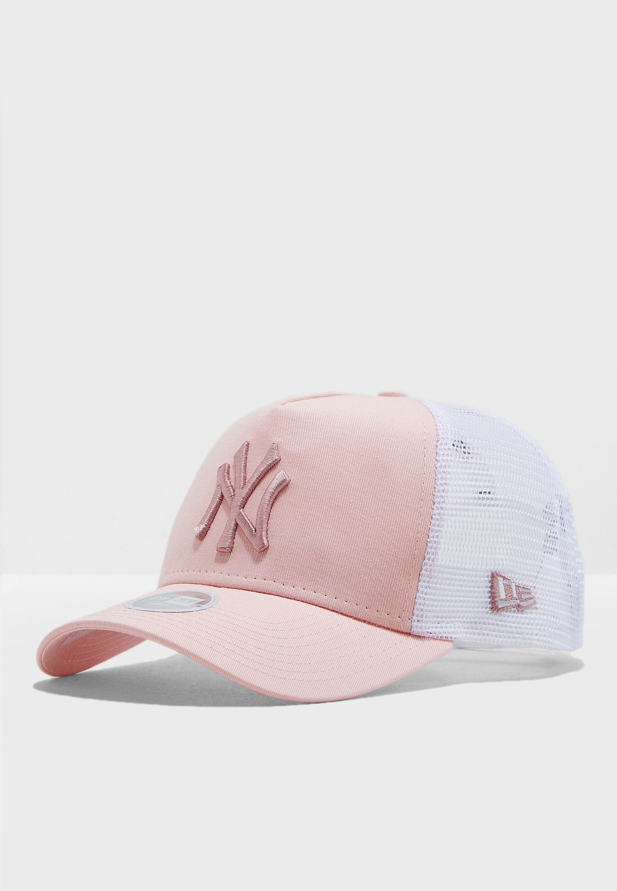 Shop New Era pink 9Forty AF New York Yankees Trucker Cap 11871463 ... 0066f93d618c