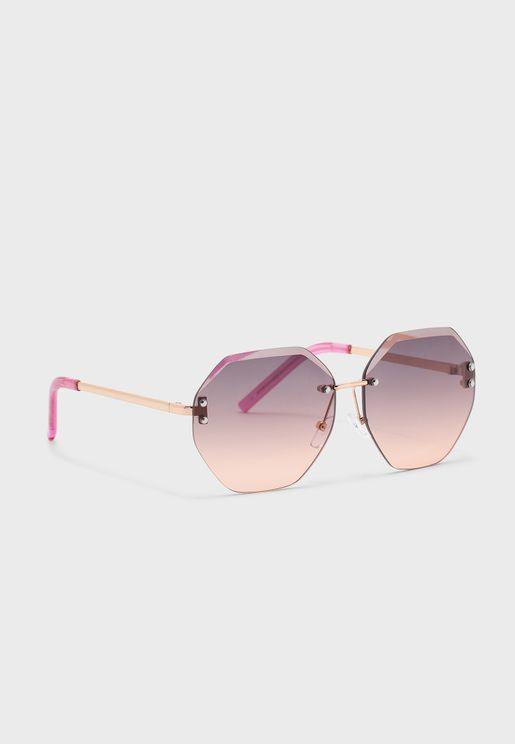Zelyaeva Hexagonal Sunglasses