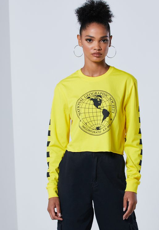 National Geographic Cropped T-Shirt