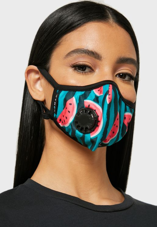 Watermelon Print Mask With Vent