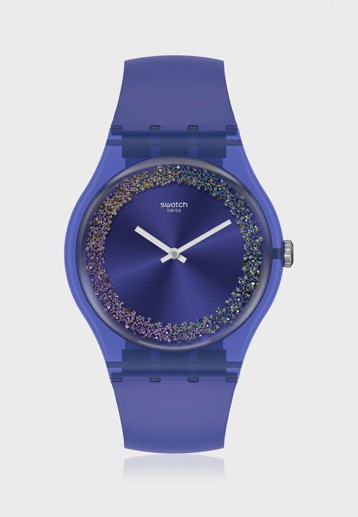 Purple Rings Analog Watch