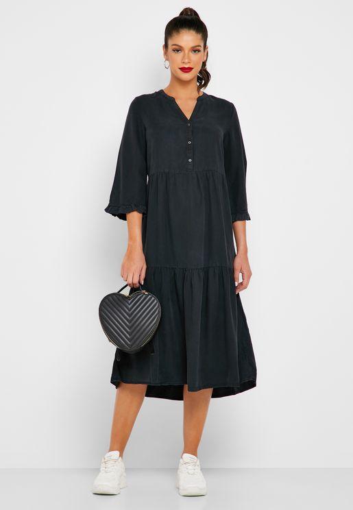 Tiered V-Neck Dress
