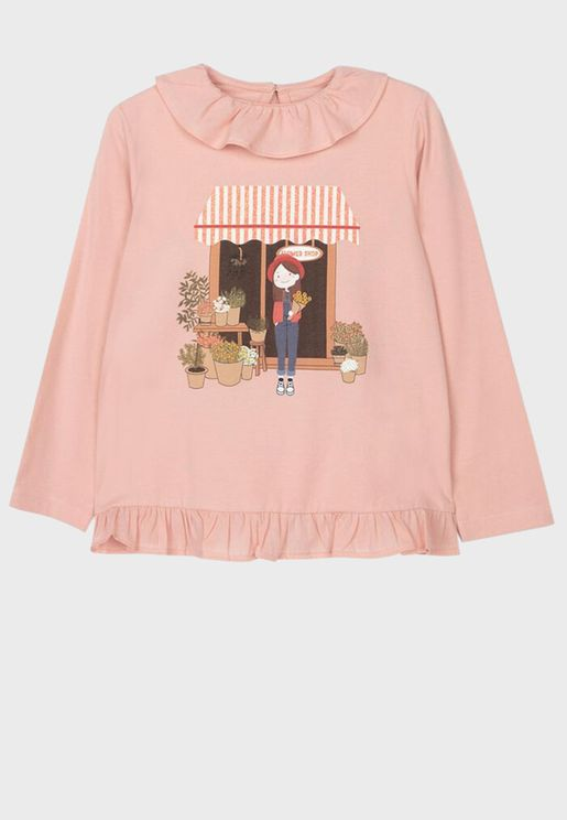 Kids Flower Girl Top