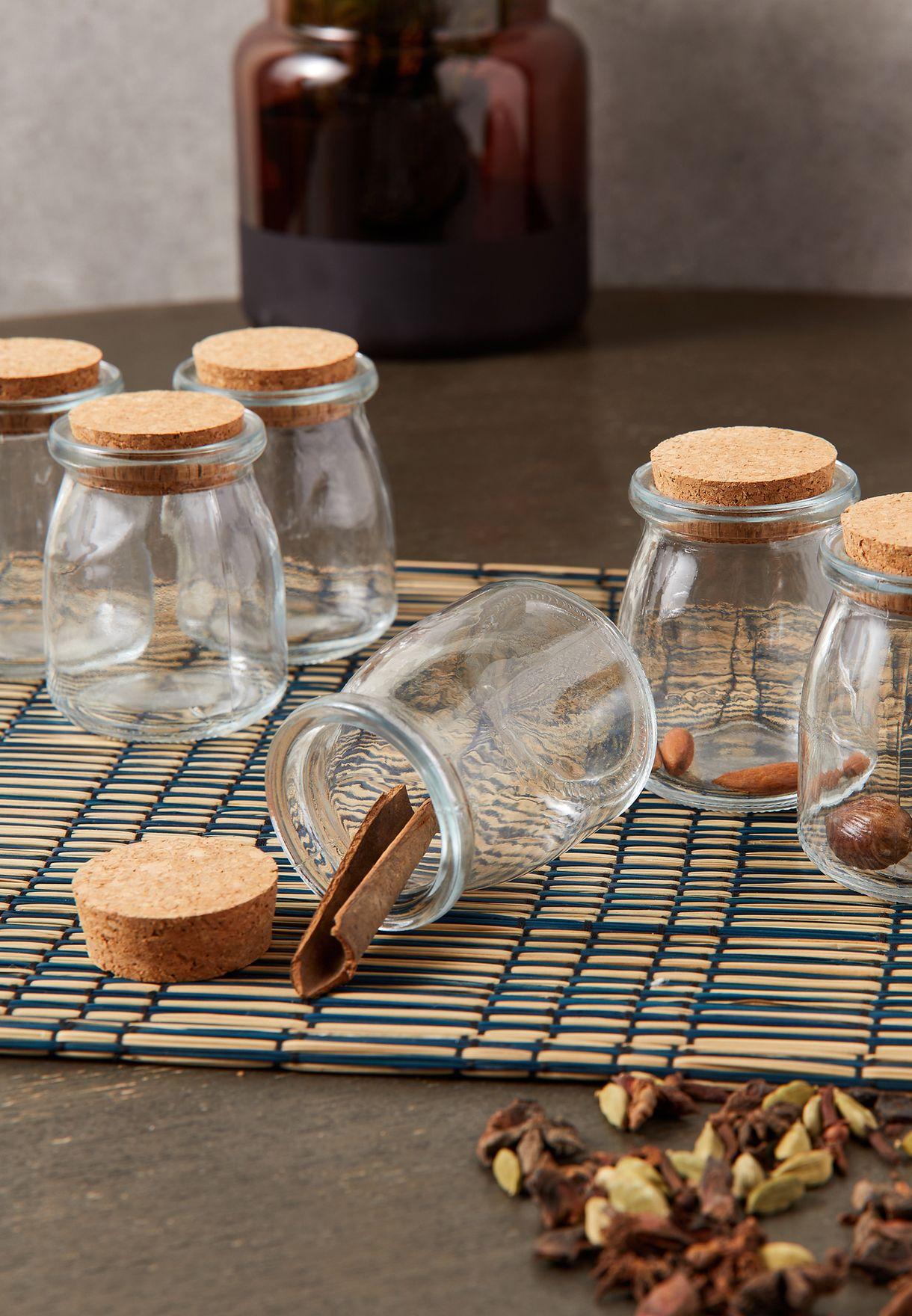Set Of 6 Storage Jars