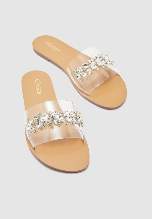 Jewel Detail Sandal