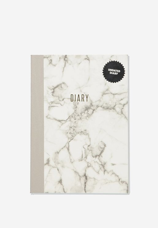 A5 Marble Understated Undated Diary