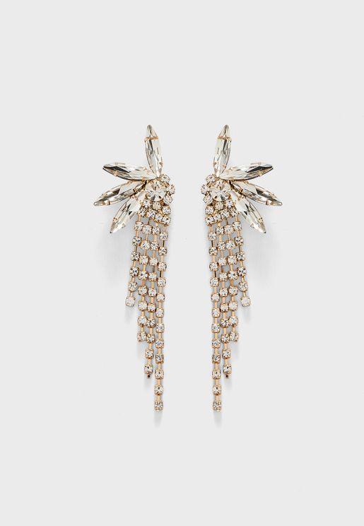 Diamante Droplet Earrings