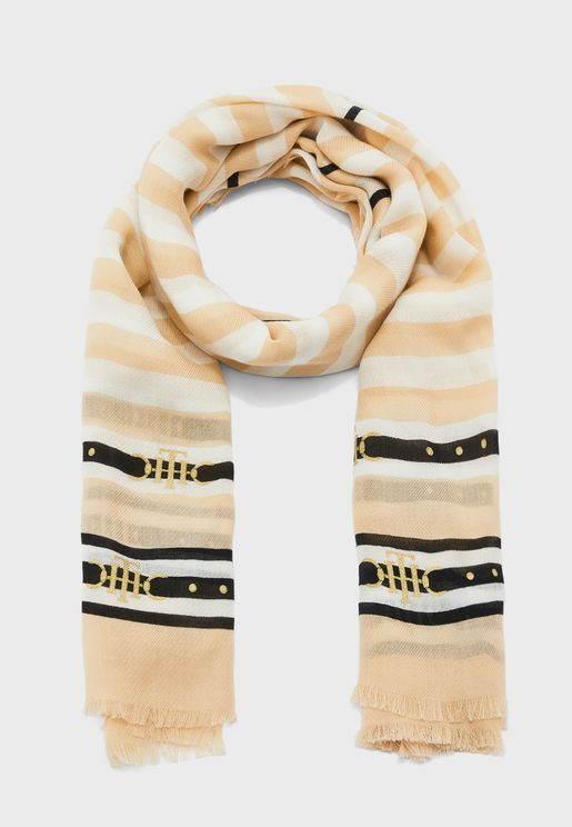 Stripe Square Scarf