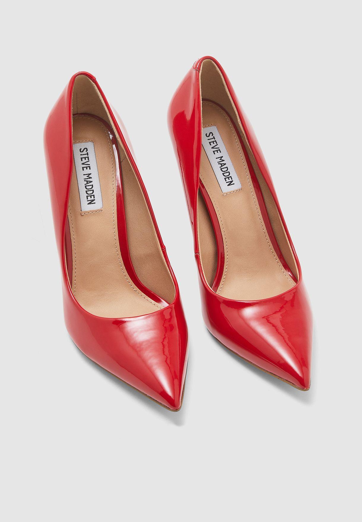 Vala High Heel Pump - Red