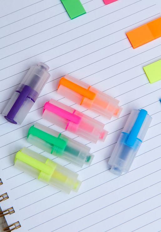Set Of 6 Mini Markers